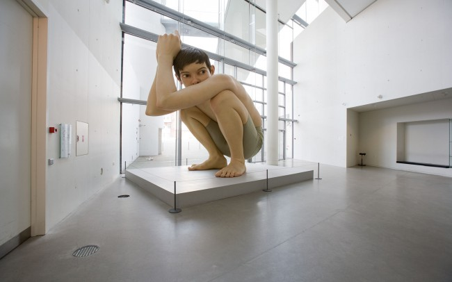 Boy-Figur im Museum