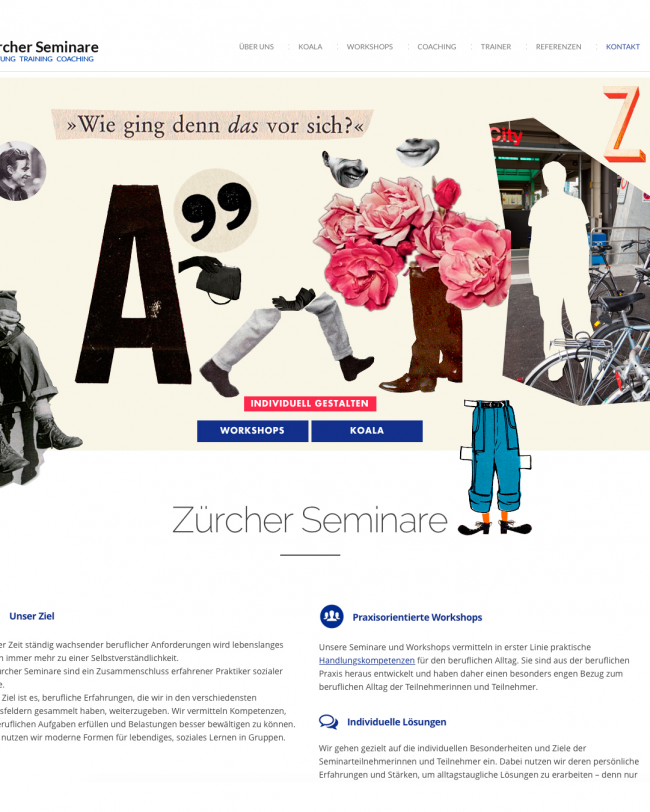 Screenshot der Website zuercher-seminare.ch