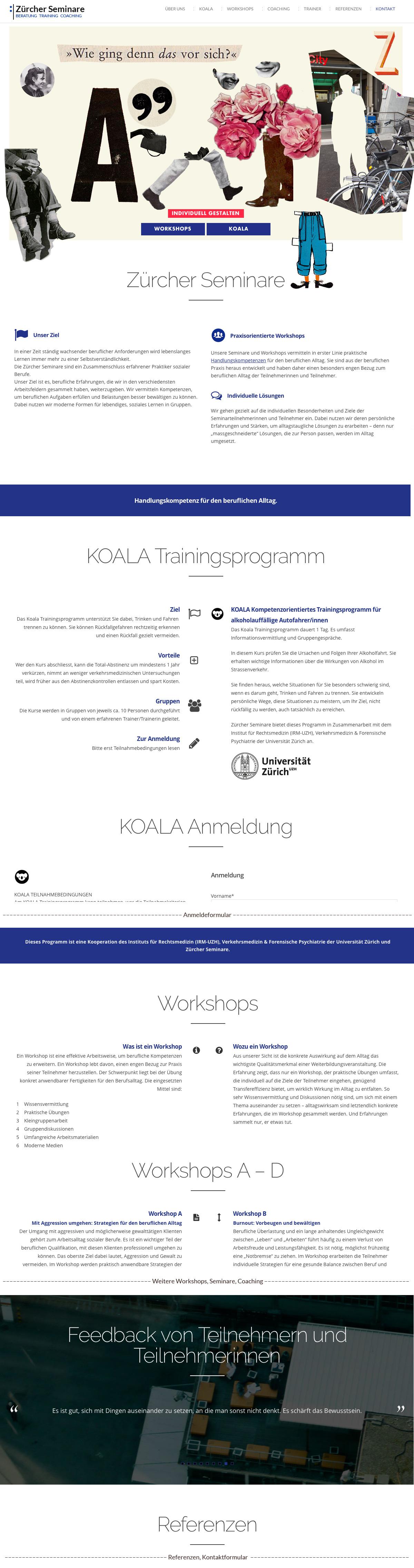 Website Zuercher Seminare