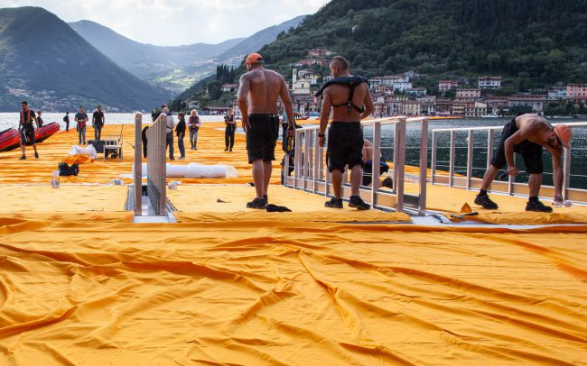 The Floating Piers, Juni 2016, Christo