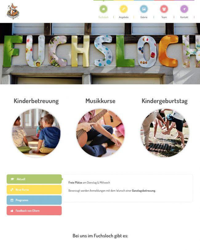 Web publishing fuchsloch.ch