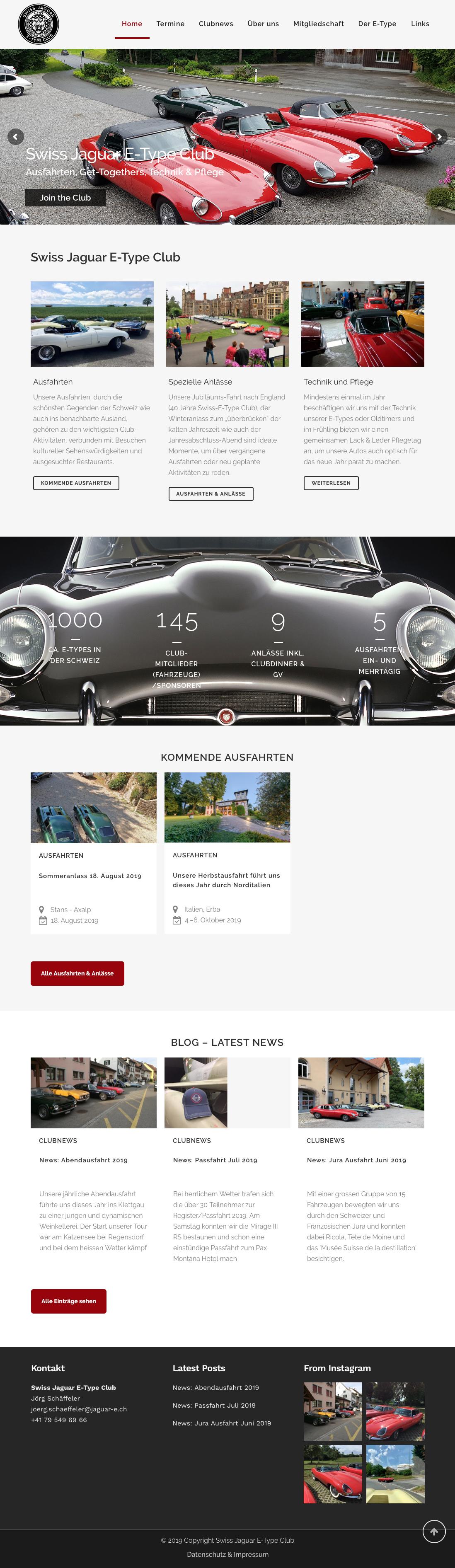 screenshot von homepage